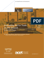 Evaluating Aid for Trade on the Ground Lessons