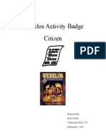 Citizen Activity Badge Outline