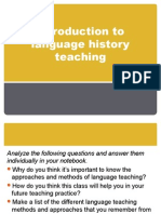 Introduction to Language History Teaching