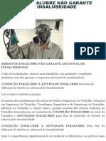 Ambiente Insalubre Não Garante Adicional de Insalubridade _ Sst - Legislação - Nrs - Pericias - Higiene Ocupacional