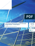 Local Content Requirements and the Renewable Energy Industry - A Good Match