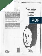 Creer Saber Conocer Luis Villorio
