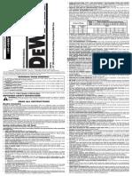Instruction Manual DW718 Miter Saw