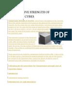 Compressive Strength of Concrete Cubes