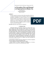 Customer Perception, Price and Demand Analysis of Supermarkets in Dhaka City