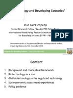 Jose Falck Zepeda Presentation Cambridge University December 2014 FINAL on Biotechnology and Developing Counries