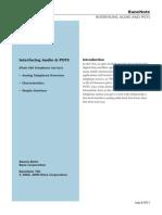 Interfacing Audio & POTS