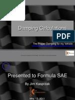 FSAE Damping Calculations Seminar