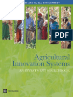 Agricultural Innovation Systems - An Investment Sourcebook