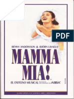 Playbill Mamma Mia Argentina