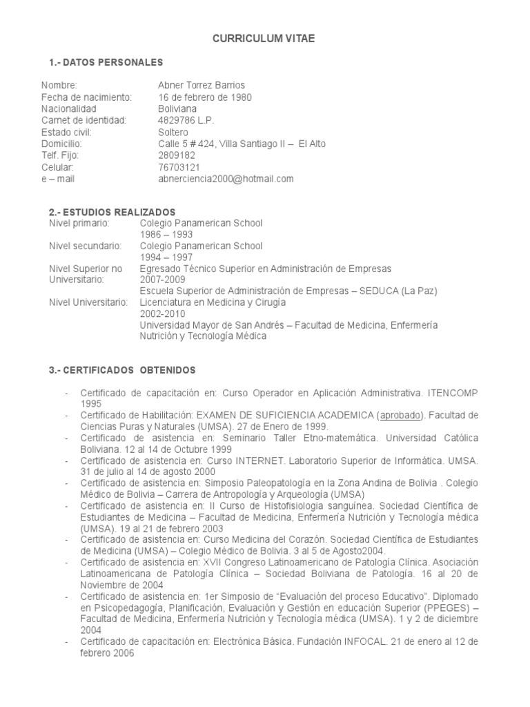 Lujo Ejemplos De Currículum De Aplicación De La Escuela Componente ...