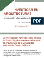Que Investigar en Arquitectura