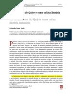 As Meditações Do Quixote Como Crítica Literária Humanista - Eduardo Cesar Maia
