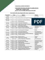 III Semester MBA 2015