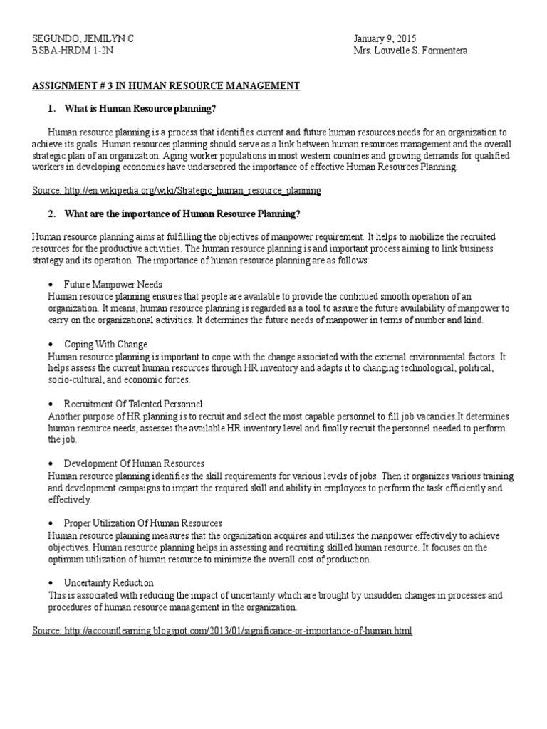 external factors in human resource planning