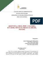 ARGENTINA, CHILE, PERÚ, COLOMBIA, ECUADOR, URUGUAY, PARAGUAY, BRASIL, PANAMÁ