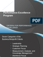 2012 Criteria for Performance Excellence