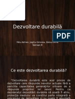Proiect - Dezvoltare durabila