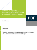 Solution Architecture – Approach to Rapidly Scoping the Initial Solution Options