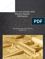 Proiect - Frumosul Unui Templu Antic. Templul Reginei Hatshepsut