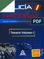 Temario Vol.I POLICIA NACIONAL