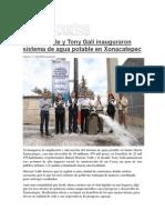 17-02-2015 Contrastes de Puebla.com - Moreno Valle y Tony Gali Inauguraron Sistema de Agua Potable en Xonacatepec