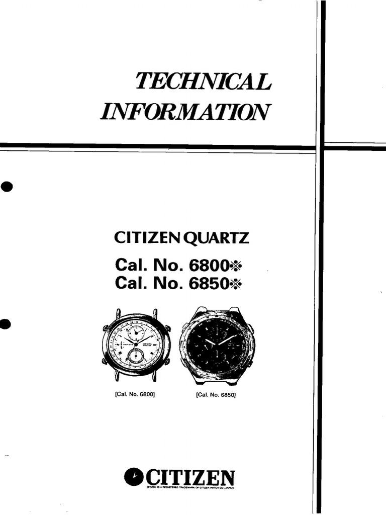 Manual Reloj miyota 6w50