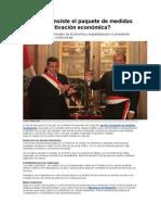 En Qué Consiste E:) bienestarl Paquete de Medidas Para La Reactivación Económica