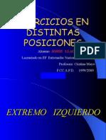 Ejercicios por posiciones (Balonmano)