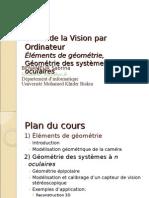 6.Bases de La Vision Par Ordinateur_Éléments de Géométrie
