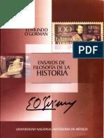 Ensayos de Filosofia de La Historia - Edmundo O'Gorman