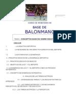 Didactica Balonmano Curso Monitores