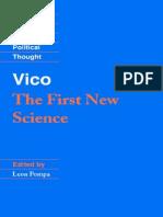 Vico, Giambattista - First New Science, The [1725] (Cambridge, 2002)