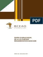 Textes Application de La Loi Portant Reglementation Bancaire