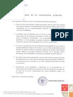 Comunicado - Secretaria General de la Universidad Antonio Ruiz de Montoya