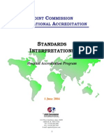 JCI Standards Interpretation_June12004