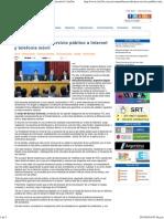 Buscan Declarar Servicio Público a Internet y Telefonía Móvil
