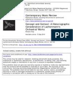 Concept and Context a Historiographic