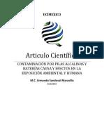 Armando Sandoval Articulo Cientifico CONTAMINACIÓN POR PILAS ALCALINAS