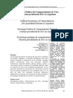Brussino, Silvina e cols. (2013). Psicología Política del Comportamiento de Voto