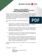 JUGEMENT DU CONSEIL DE PRESSE  - À L'ENCONTRE D'UN REPORTAGE D'ENQUÊTE AU TÉLÉJOURNAL - RADIO-CANADA EN APPELLE