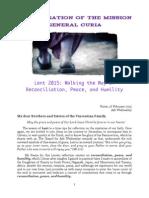 [ENG] Superior General – Lenten Letter 2015
