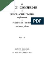 Marco Accio Plauto - Le Venti Commedie Vol. 2