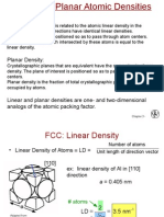 Linear and Planar Densities