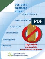 Subsídio - Cartilha Para Produção de Saneantes - ANVISA
