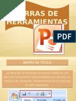 Barra de herramientas de PowerPoint.