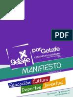 PorGetafe - Manifiesto Educacion, Cultura, Deportes y Juventud
