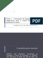 Concepções de Linguagem e Suas Implicações Para o Ensino de Leitura e Produção de Textos