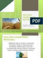 Ekološki građevinski materijali