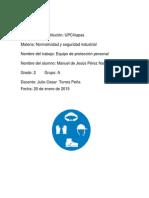 Equipo de proteccion personal EPP